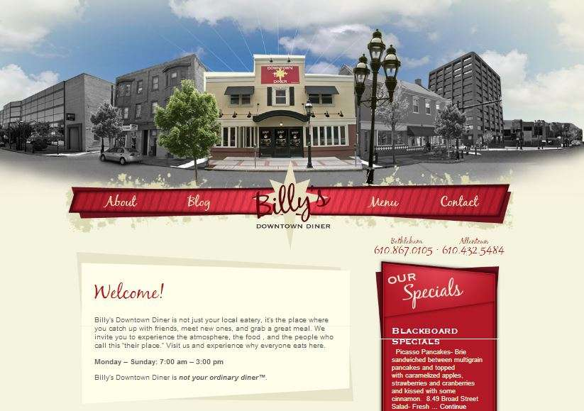 Wordpress Powered Website_Billys Diner