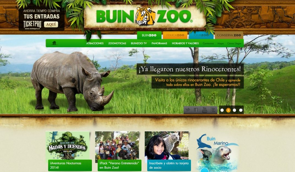 Wordpress Powered Website_Zoo Website