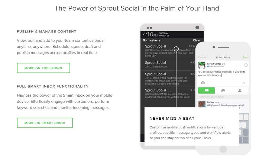 Sprout Social Media Monitoring APP