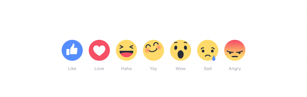 facebook introduces reactions