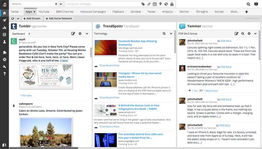 Hootsuite Pro Dashboard