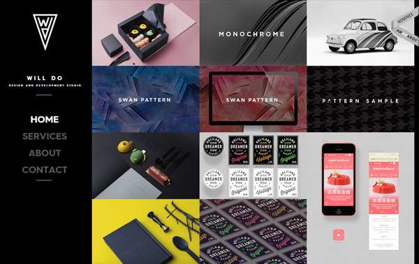 Ineractive card based design web trend 2016