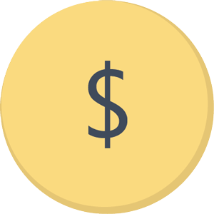 Vector design of Dollar sign on gold coin