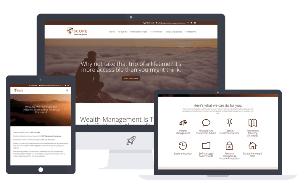 Brisbane Web Design for Scope Wealth Management